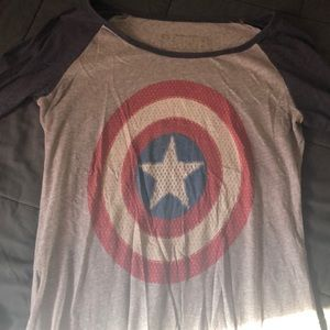 Captain America baseball shirt